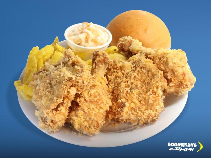 مرغ سوخاری ۴ تکه